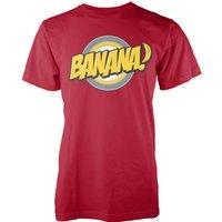 Banana Mens Red T-Shirt - S - Red