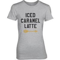 Iced Caramel Latte Women's Grey T-Shirt - L - Grey