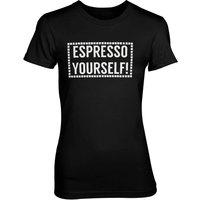 Espresso Yourself! Women's Black T-Shirt - XL - Black