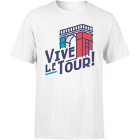 Vive Le Tour Men's White T-Shirt - L - White