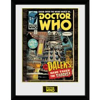 Doctor Who Daleks Tardis Comic - 16 x 12 Inches Framed Photograph - Doctor Who Gifts