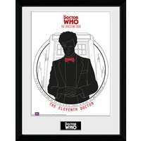 Doctor Who Spacetime Tour 11th Doctor - 16 x 12 Inches Framed Photograph - Doctor Who Gifts