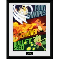 Image of Pokémon Moves - 16 x 12 Inches Framed Photograph