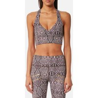 Varley Women's Brighton Sports Bra - Taupe Snake - M - Brown