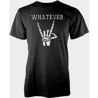 Whatever Skeleton Hands Black T-Shirt - XL - Black