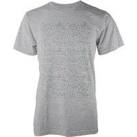 Origami Dinosaur All Over Grey T-Shirt - M - Grey