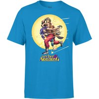 Valiant Comics Classic Archer and Armstrong Running Graphic T-Shirt - Blue - M - Blue - Sport Gifts