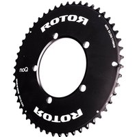 Rotor NoQ Aero Outer Chainring 5 Bolt - 53T - 110BCD - Black