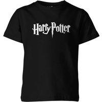 Harry Potter Logo Kids' Black T-Shirt - 9-10 Years - Black - Harry Potter Gifts