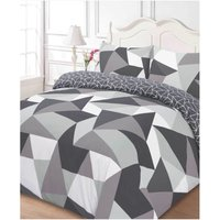 Dreamscene Shapes Duvet Set - Grey - Single - Grey