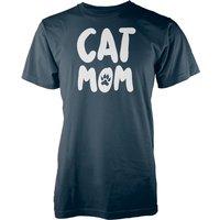 Cat MOM Navy T-Shirt - L - Navy