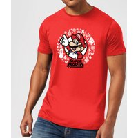 Nintendo Super Mario White Wreath Red T-Shirt - S