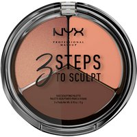Paleta de contouring 3 Steps to Sculpt Face Sculpting Palette NYX Professional Makeup - Deep