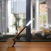 Gingko Octagon One Desk Lamp - Walnut