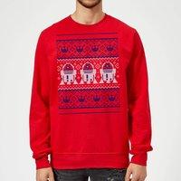Star Wars R2D2 Christmas Knit Red Christmas Sweatshirt - L