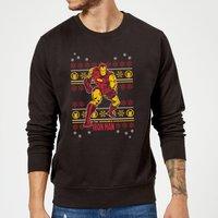 Marvel Comics The Invincible Ironman Black Christmas Sweatshirt - XXL