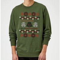 Star Wars Empire Knit Green Christmas Sweatshirt - XL