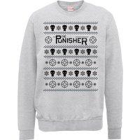 Marvel The Punisher Grey Christmas Sweatshirt - S - Grey