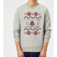 Star Wars Empire Knit Grey Christmas Sweatshirt - M