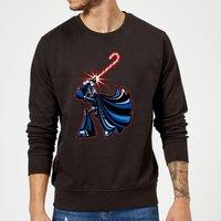 Star Wars Candy Cane Darth Vader Black Christmas Sweatshirt - XL - Black