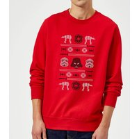 Star Wars Imperial Knit Red Christmas Sweatshirt - L - Red