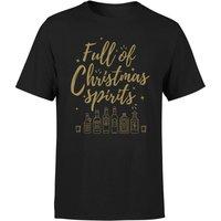 Full Of Christmas Spirits T-Shirt - Black - XL - Black