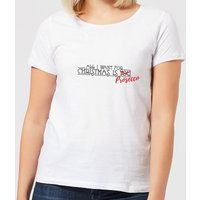All I Want For Christmas Is Prosecco Women's T-Shirt - White - 3XL - White