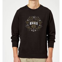 Hoppy New Beer Sweatshirt - Black - XL - Black - Beer Gifts