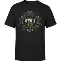 Hoppy New Beer T-Shirt - Black - L - Black - Beer Gifts