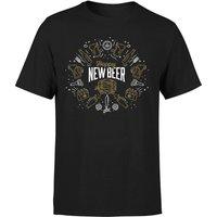 Hoppy New Beer T-Shirt - Black - M - Black - Beer Gifts