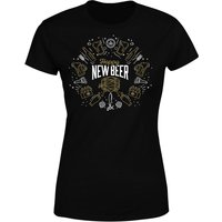 Hoppy New Beer Women's T-Shirt - Black - L - Black - Beer Gifts