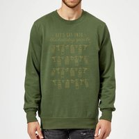 Let's Get Into The Christmas Spirits Sweatshirt - Forest Green - S - Forest Green