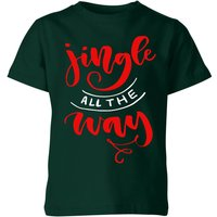 Jingle all the Way Kids' T-Shirt - Forest Green - 7-8 Years - Forest Green