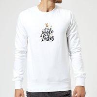All The Jingle Ladies Sweatshirt - White - XL - White