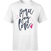 Peace Joy Love T-Shirt - White - S - White