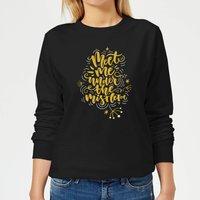 Meet Me Under The Mistletoe Women's Sweatshirt - Black - XS - Black