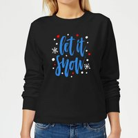 Let it Snow Women's Sweatshirt - Black - M - Black