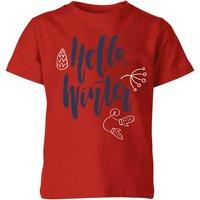 Hello Winter Kids' T-Shirt - Red - 11-12 Years - Red