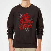 All i want for Christmas Sweatshirt - Black - S - Black