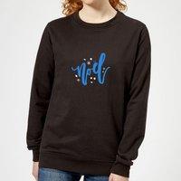 Noel Snowflakes Women's Sweatshirt - Black - XS - Black