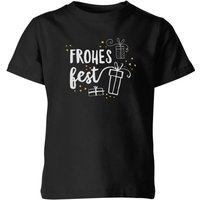Frohes Fest Kids' T-Shirt - Black - 11-12 Years - Black