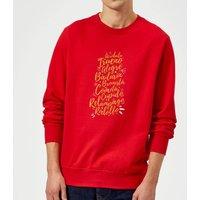 International Reindeer Sweatshirt - Red - XXL - Red