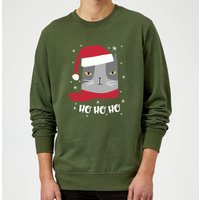 Ho Ho Ho Sweatshirt - Forest Green - XL - Kelly Green