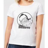 Believe Grey Women's T-Shirt - White - L - White