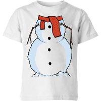 Snowman Kids' T-Shirt - White - 5-6 Years - White