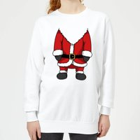 Santa Women's Sweatshirt - White - L - White