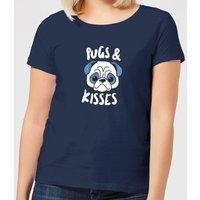Pugs & Kisses Women's T-Shirt - Navy - XL - Navy
