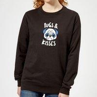 Pugs & Kisses Women's Sweatshirt - Black - M - Black