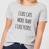 I Like Cats More Than People Women's T-Shirt - Grey - 3XL - Grey