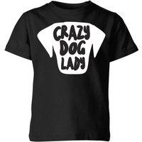 Crazy Dog Lady Kids' T-Shirt - Black - 11-12 Years - Black - Dog Gifts